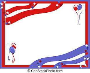 celebraciones, de, el, rojo, blanco, y