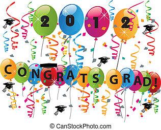 Celebrar, día, graduación