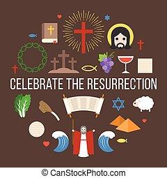 celebrar, el, resurrección, de, jesús, información, gráfico, para, pascua, y, pascua