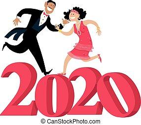 celebrar, estilo, año, 2020, chica descocada