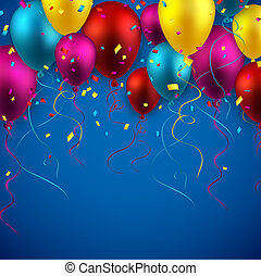 celebrare, fondo, con, balloons.