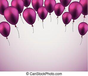 celebrare, fondo, con, viola, balloons.