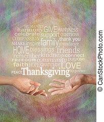 celebrare, ringraziamento, insieme