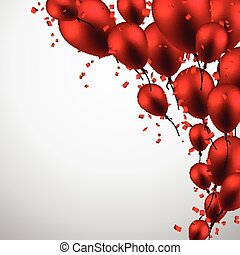 Celebrate background with red balloons.