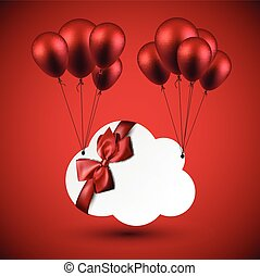 Celebrate cloud background with balloons.