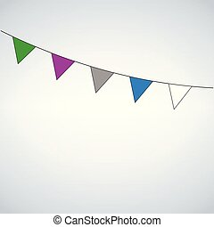 Celebrate flags, vector illustration isolated on white background.