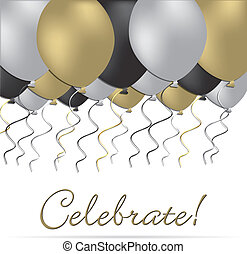 Celebrate card in vector format.