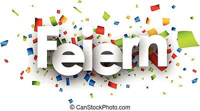 Celebrate paper banner. - Celebrate paper banner with color...