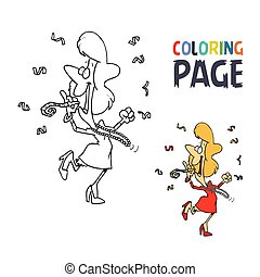 celebrate people cartoon coloring page