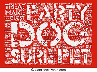 Celebrate Your Dog s Birthday with a Dog Party text background word cloud concept