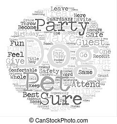Celebrate Your Dog s Birthday with a Dog Party Word Cloud Concept Text Background
