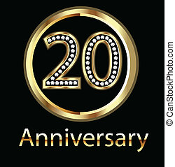 celebrati, aniversário, aniversário, 20o