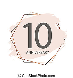 Celebrating 10 Anniversary emblem template designposter background. Illustration
