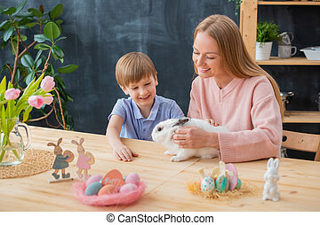 Celebrating Easter with rabbit