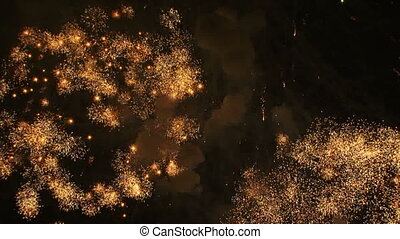 Celebrating Fourth of July with spectacular fireworks