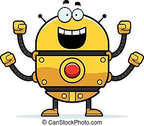 Celebrating Gold Robot