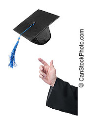 Celebrating graduation - A student of education throws up ...