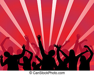 celebrating people - vector illustration of dancing people...
