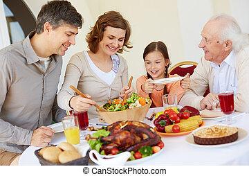 Celebrating Thanksgiving day
