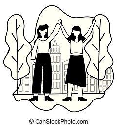 celebrating women in the city park