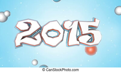 celebration 2015 new year 3D sign