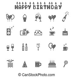 Celebration and Party Icons -vector  Illustration