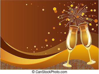 Celebration background - Shining New Year's Eve Celebration...