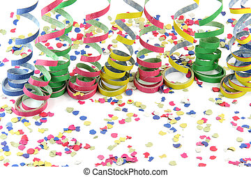 celebration background - streamers and comfetti texture ...