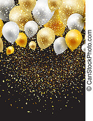 celebration background with balloons and confetti 0808