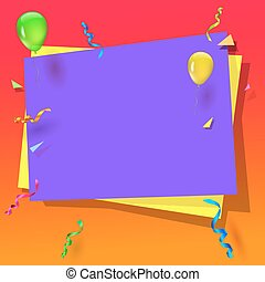 Celebration background with balloons