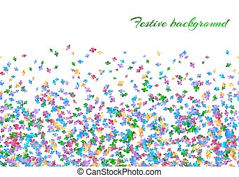 Celebration background with confetti carnival