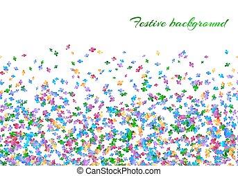 Celebration background with confetti carnival