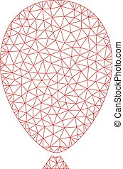 Celebration Balloon Polygonal Frame Vector Mesh Illustration