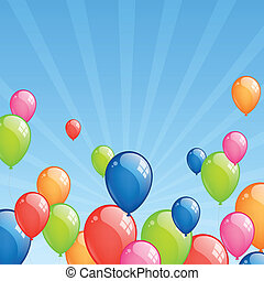 Celebration balloons - Vector Illustration od Colorful...