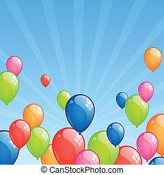 Celebration balloons - Vector Illustration od Colorful...