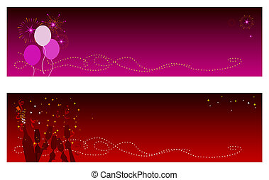 Celebration Banners - Festive Holidays & New Year banners...