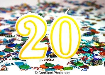 Celebration Candle - Number 20