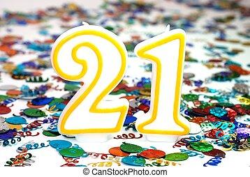 Celebration Candle - Number 21