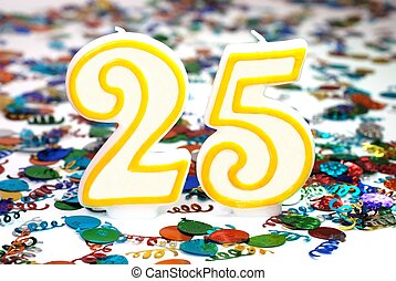 Celebration Candle - Number 25 - Number 25 celebration...