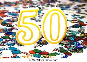 Celebration Candle - Number 50