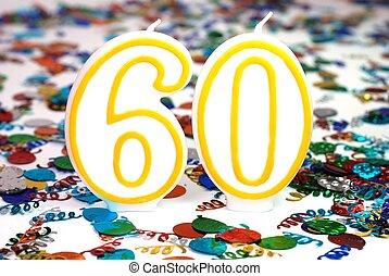 Celebration Candle - Number 60