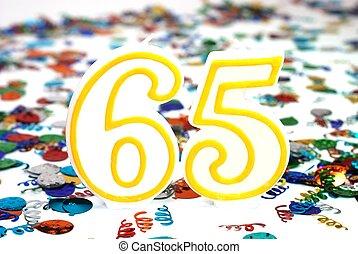 Celebration Candle - Number 65