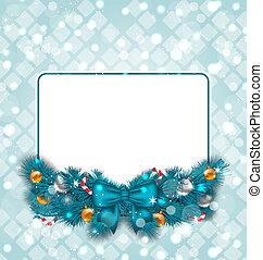 Celebration card with Christmas decoration