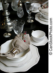 celebration christmas table in country style