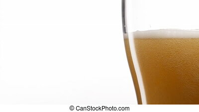 Celebration Concept With Cold Beer Pouring Into Glass -...
