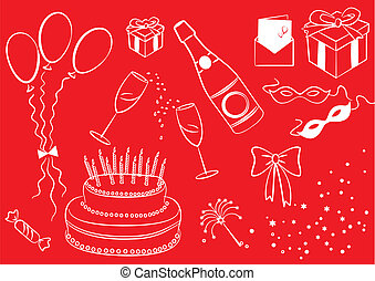 Celebration elements. Vector objects for Holiday