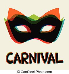 Celebration festive background design with carnival masks