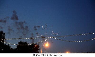 celebration fireworks - timelapse