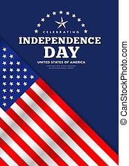 Celebration flag of america independence day poster design