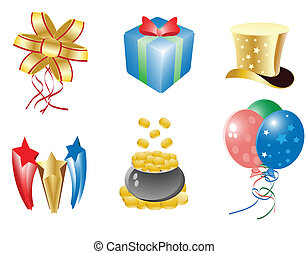 celebration icon set